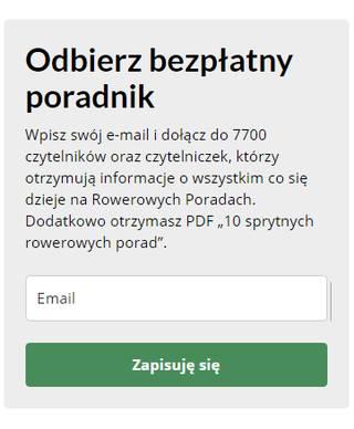 Newsletter Rowerowe Porady