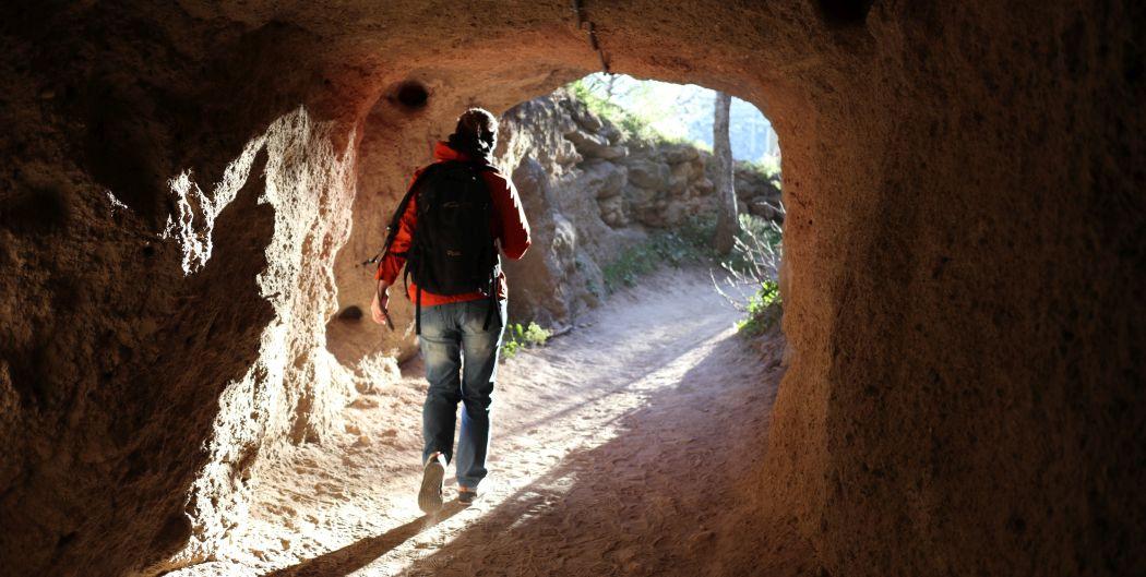 Tunel przy wejściu na Caminito del Rey - wyjście