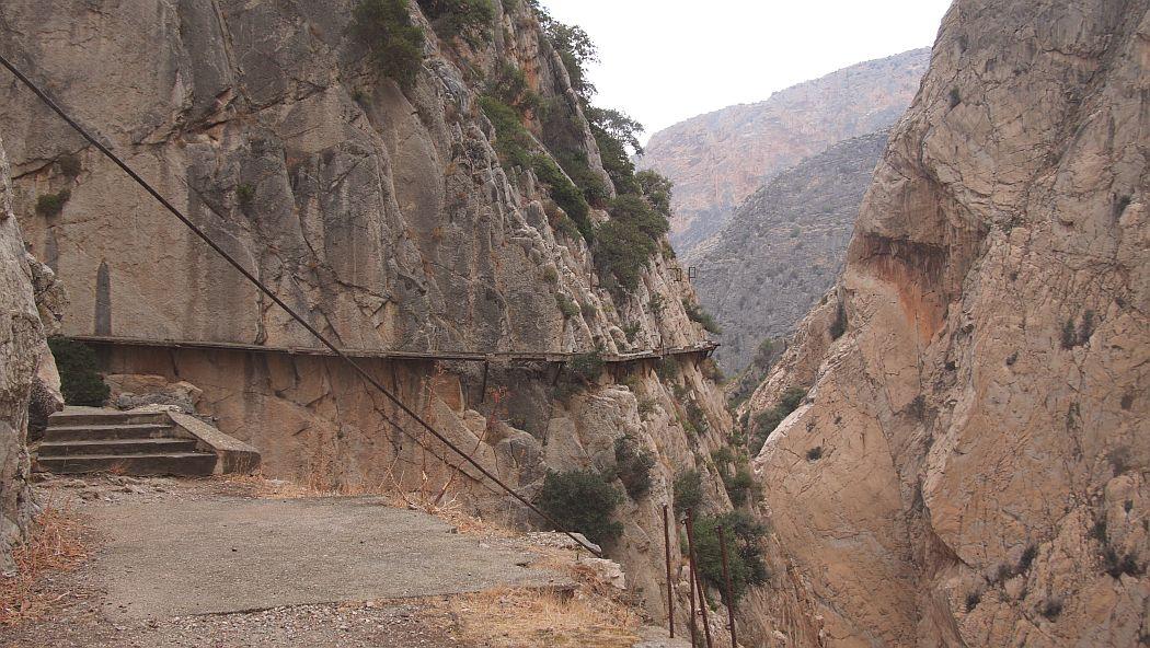Caminito del Rey przed remontem