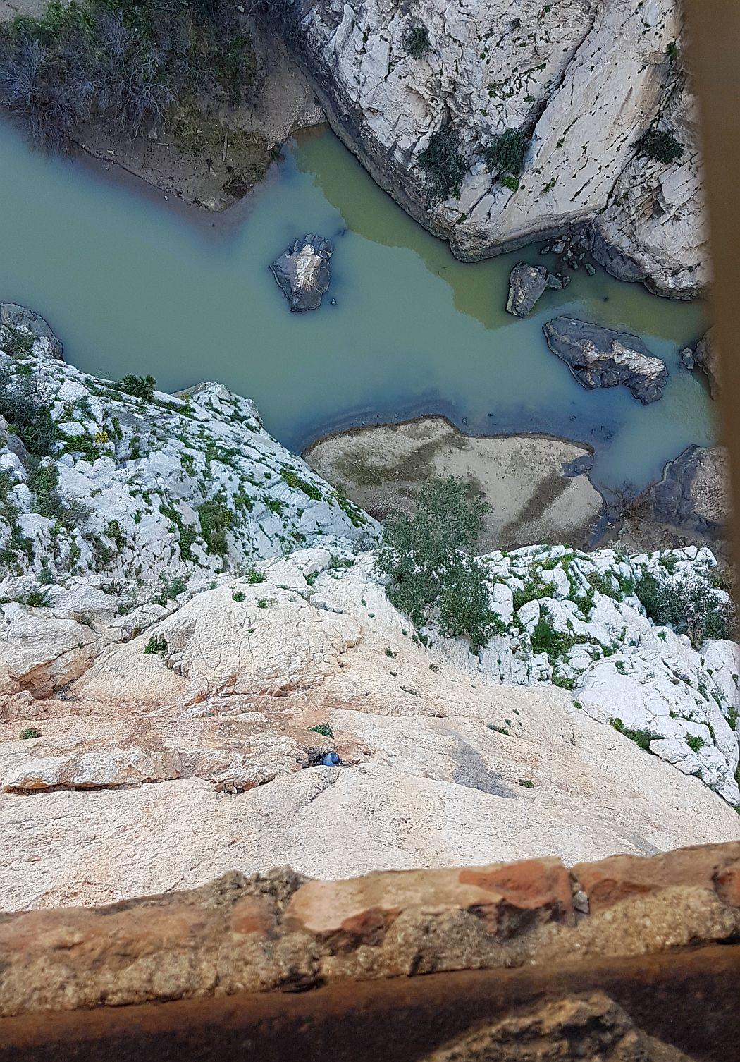 Caminito del Rey - widok w dół