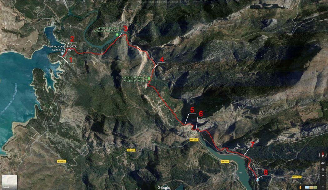 Mapa trasy na Ścieżkę Króla