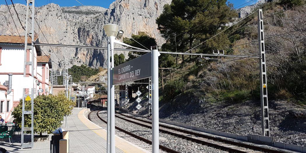Stacja kolejki w El Chorro