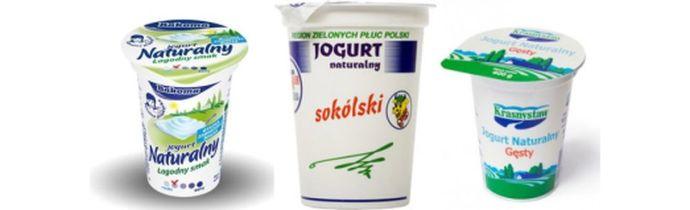 Jogurty naturalne bez mleka w proszku
