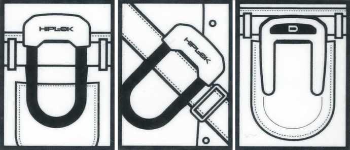 U-lock ze szlufką
