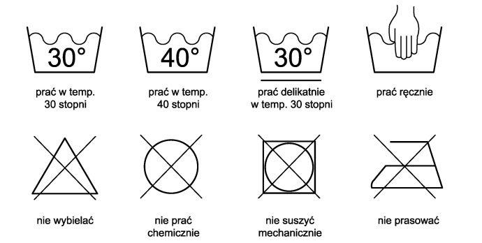 Symbole na metkach ubrań rowerowych