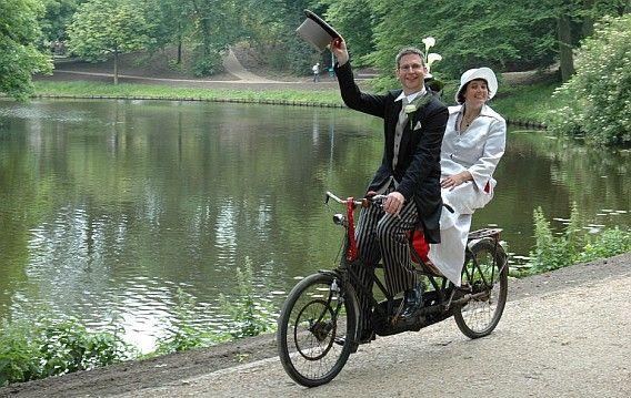 Śluby rower tandem