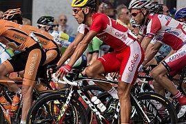 Golenie ciała na rowerze