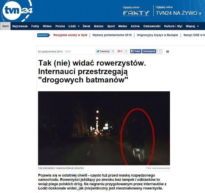 TVN24 Rowery Łukasz Przechodzeń