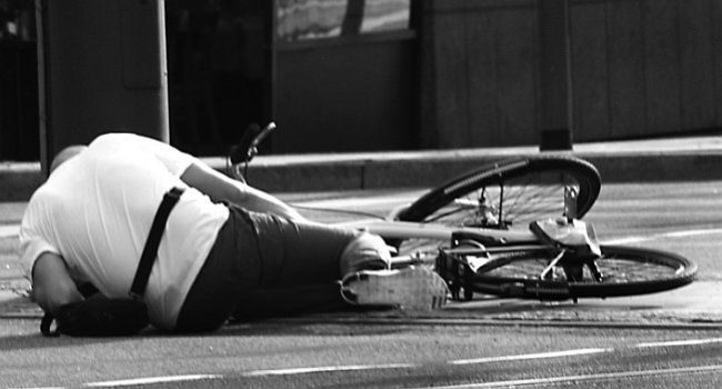 wypadek rowerowy