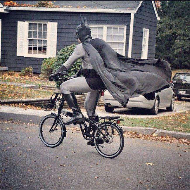 Batman na rowerze