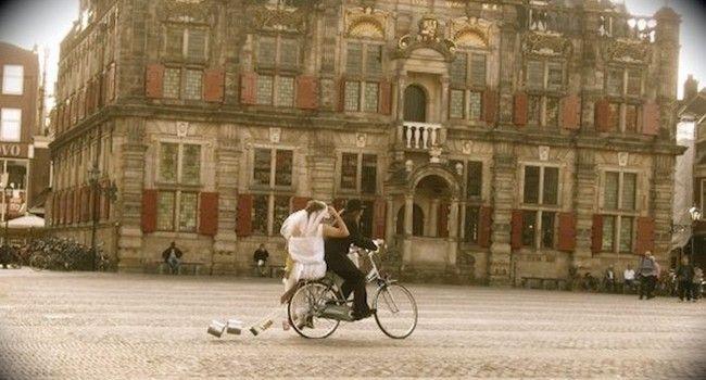 Tandem rowerowy ślub