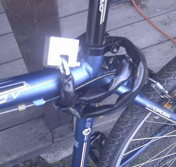Sam robię zapięcie do roweru