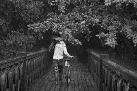 Deszcz na rowerze