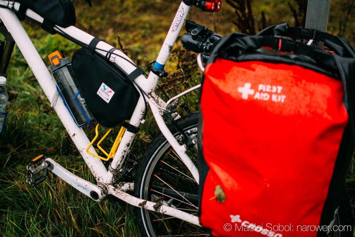 hawk fatbone rower MTB rama sakwy crosso czerwone