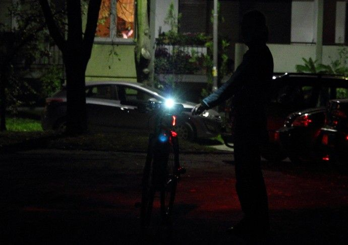 Lampki rowerowe Kross
