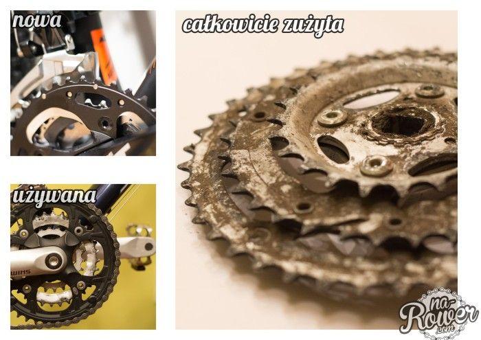 Stopień zużycia korba używany rower