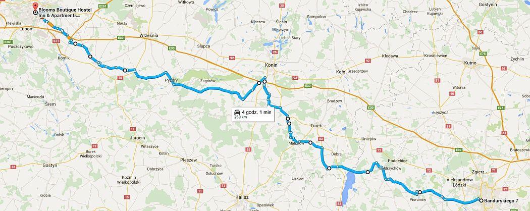 Trasa rowerowa Łódź Poznań