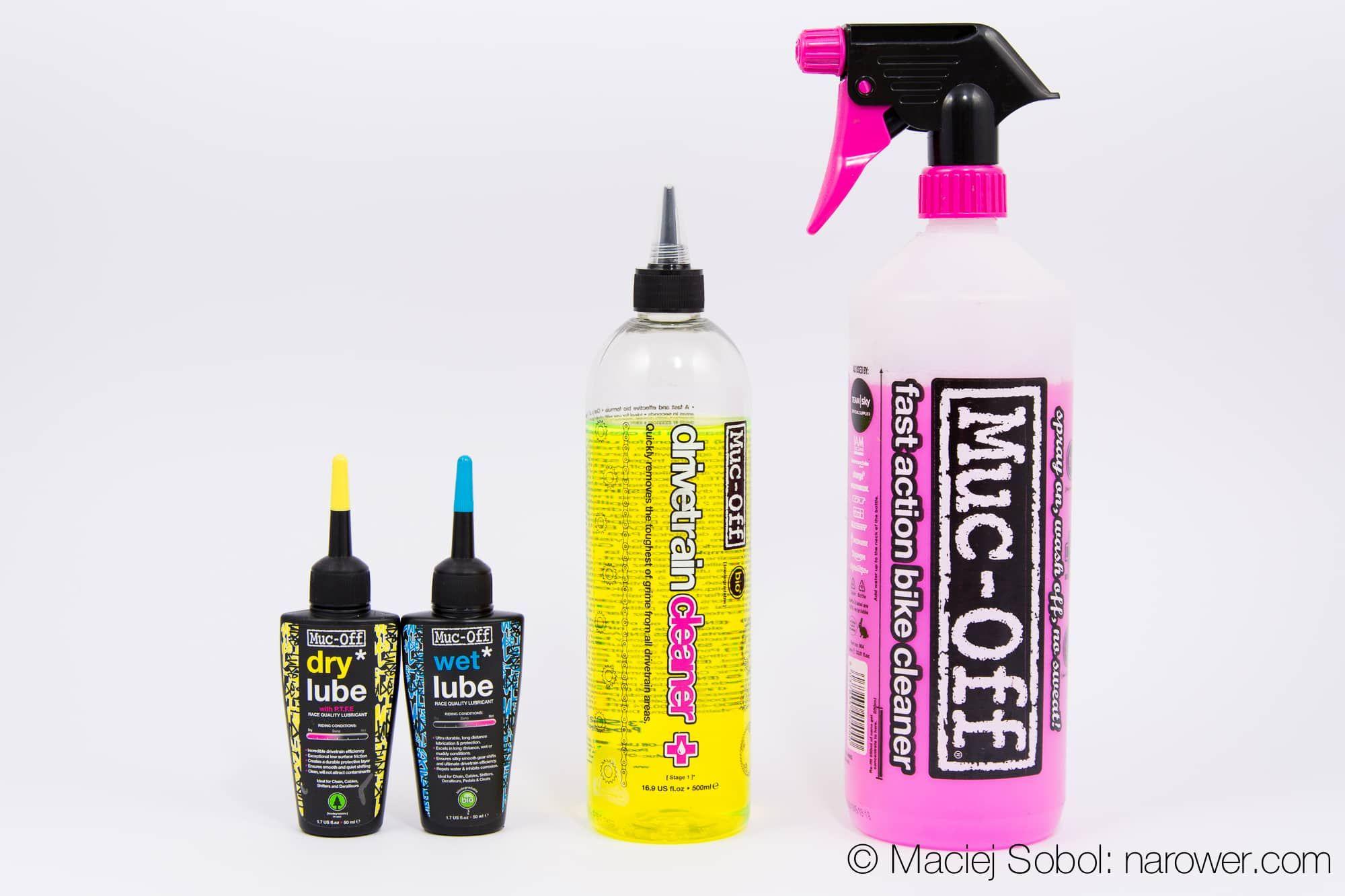 muc-off smar olej odtluszczacz plyn Chemia rowerowa