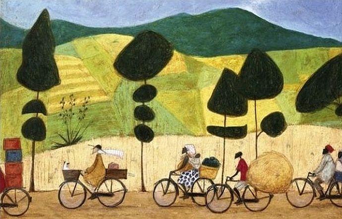 Obraz z rowerami