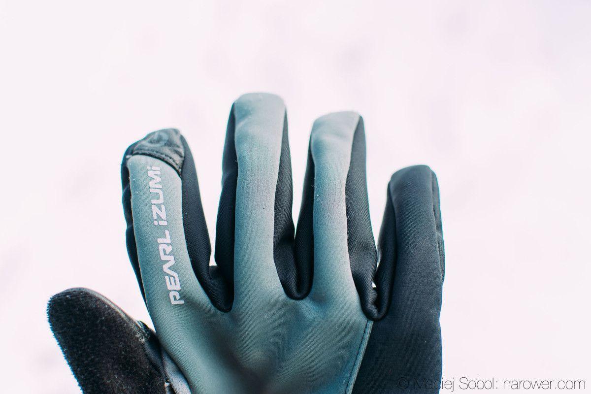 Zimowe rękawiczki rowerowe Pearl Izumi Select SoftShell Glove recenzja rękawice Pi iP