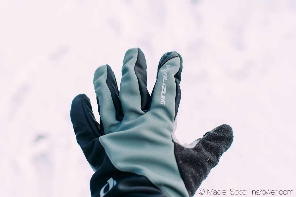 Zimowe rękawiczki rowerowe Pearl Izumi Select SoftShell Glove recenzja rękawice