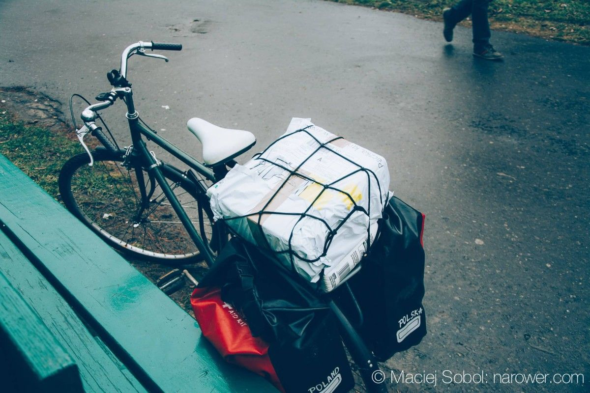 Jak przewieźć zakupy rowerem? na rowerze miasto w mieście