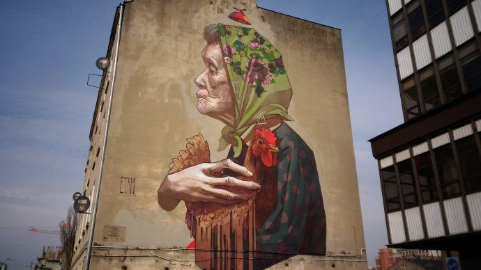 Mural Aleja Politechniki Łódź