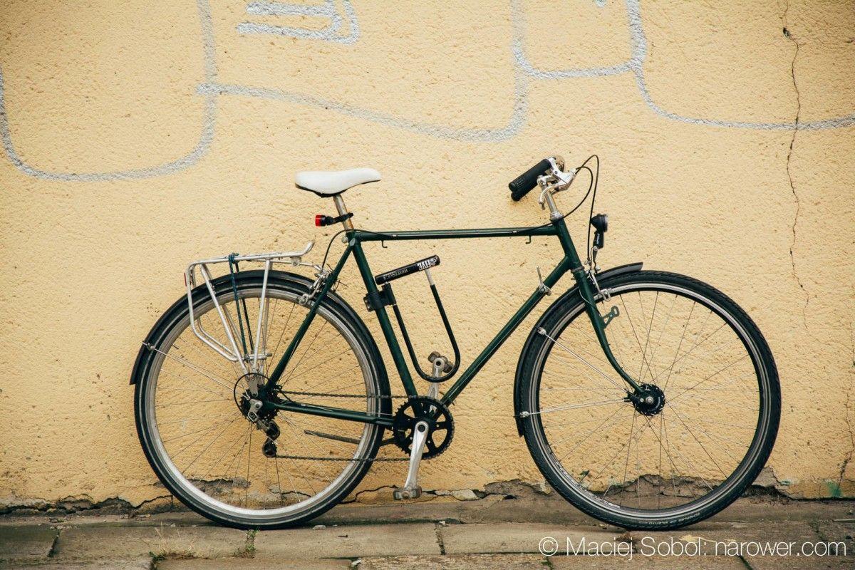 rower miejski zielona koza miejska