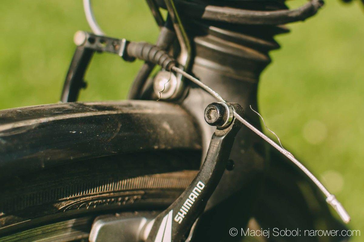 Jak wyregulować hamulce w rowerze? hamulce v-brake shimano