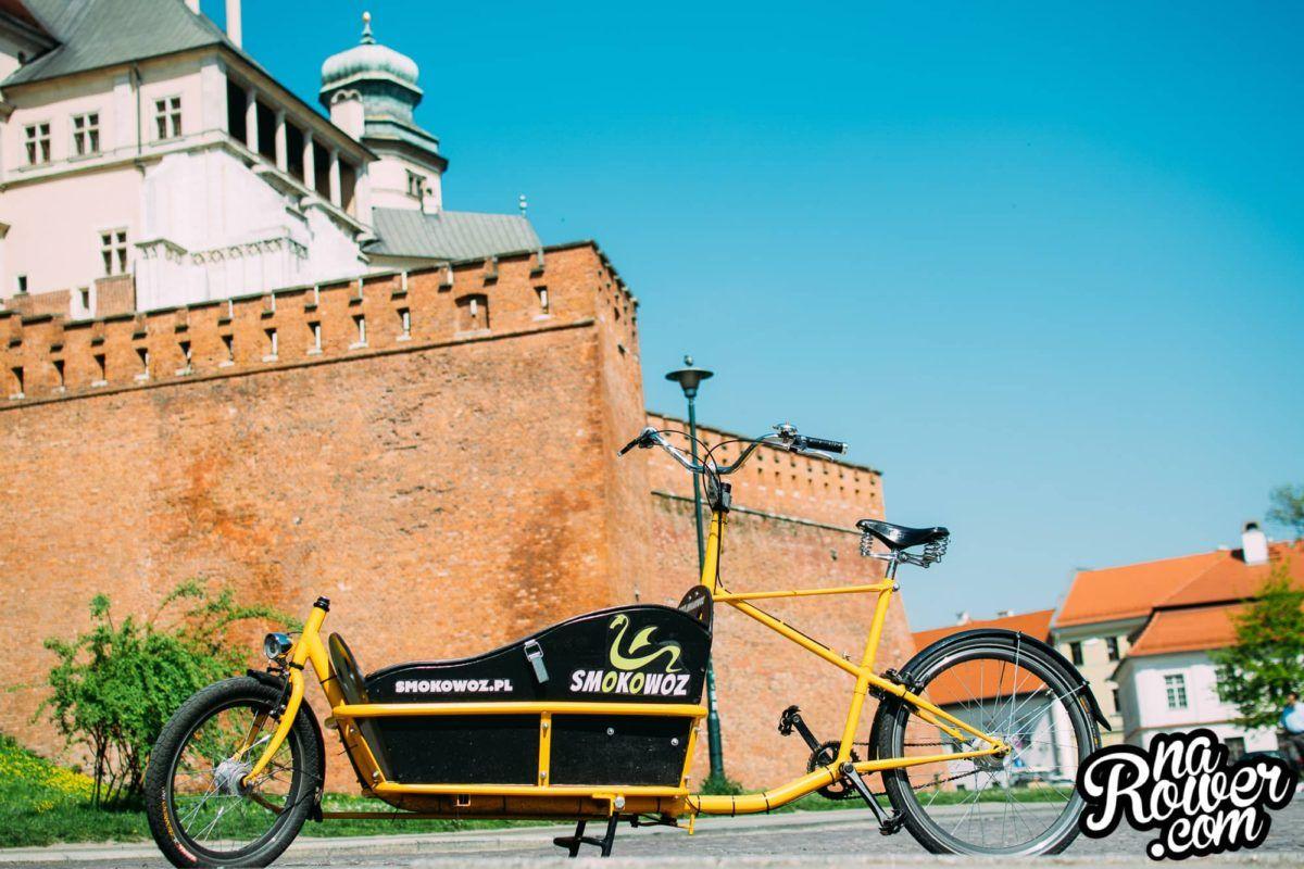 dowóz zakupów rowerem towarowym