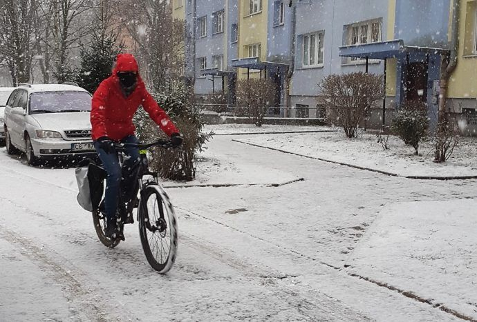 Jazda zimą rowerem