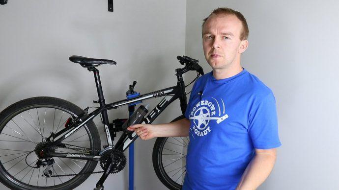 Stojak rowerowy prezent