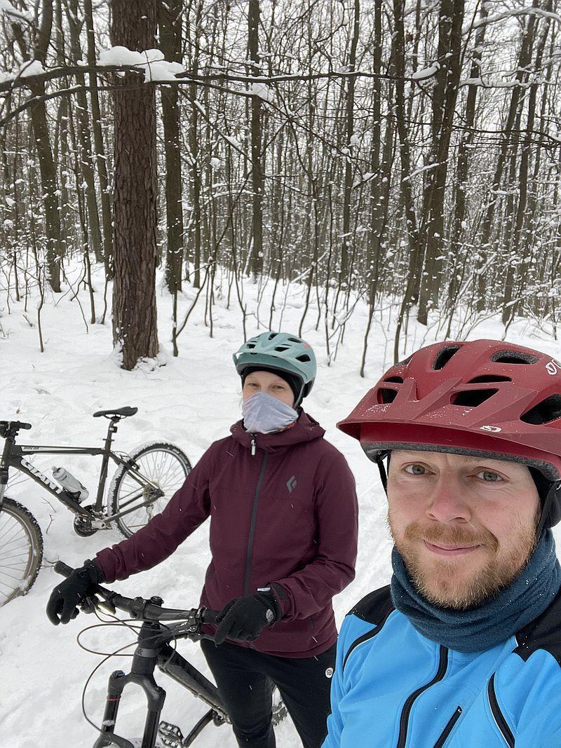W co się ubrać na rower zimą