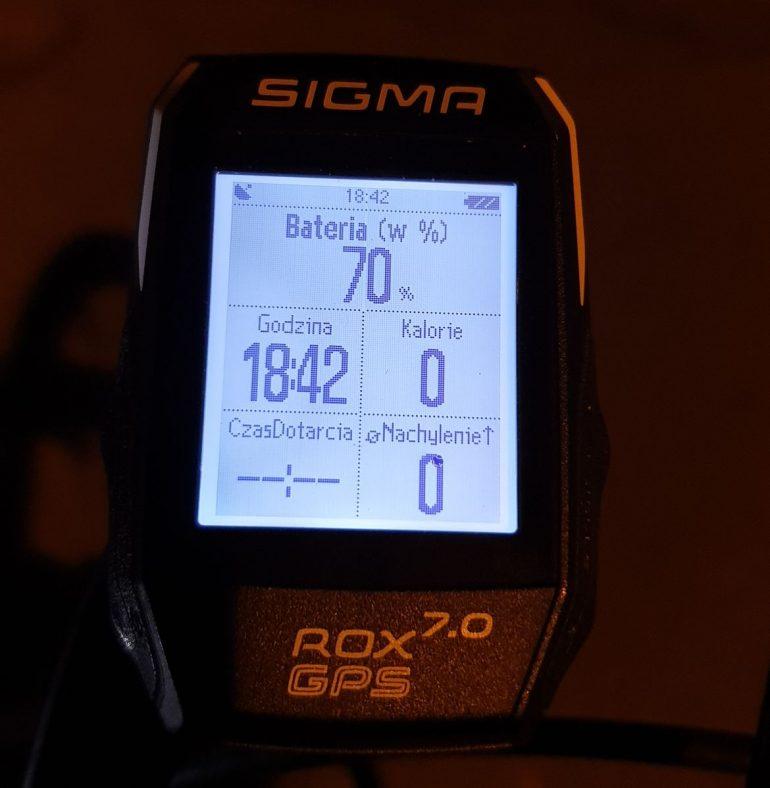 Licznik Sigma ROX GPS funkcje
